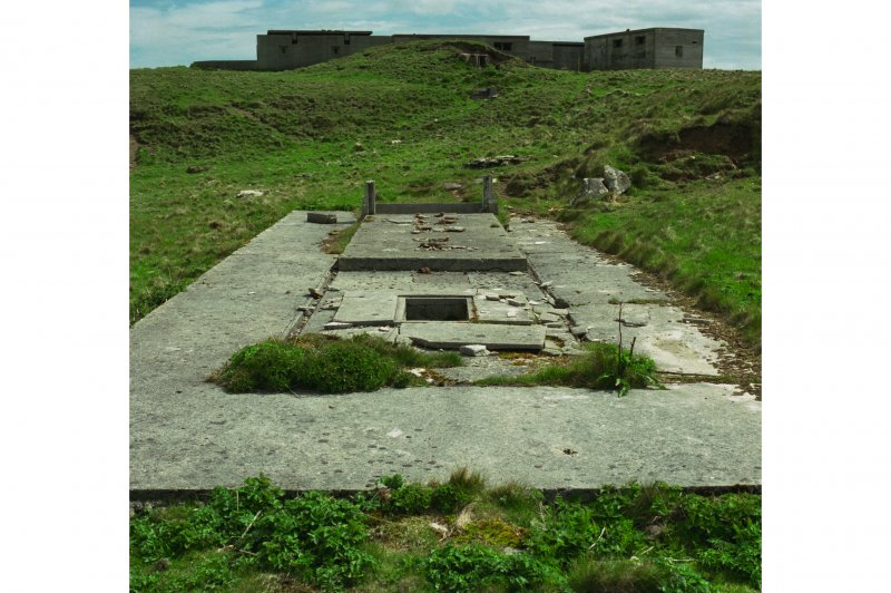 Ablutions block, view of concrete base from West.