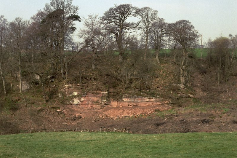 General view of the Ballochmyle outcrop, taken from the south-east.