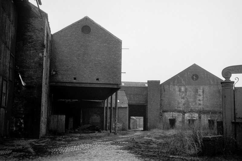 View from ESE showing ESE front of coppersmiths shop with part of railway gate on right