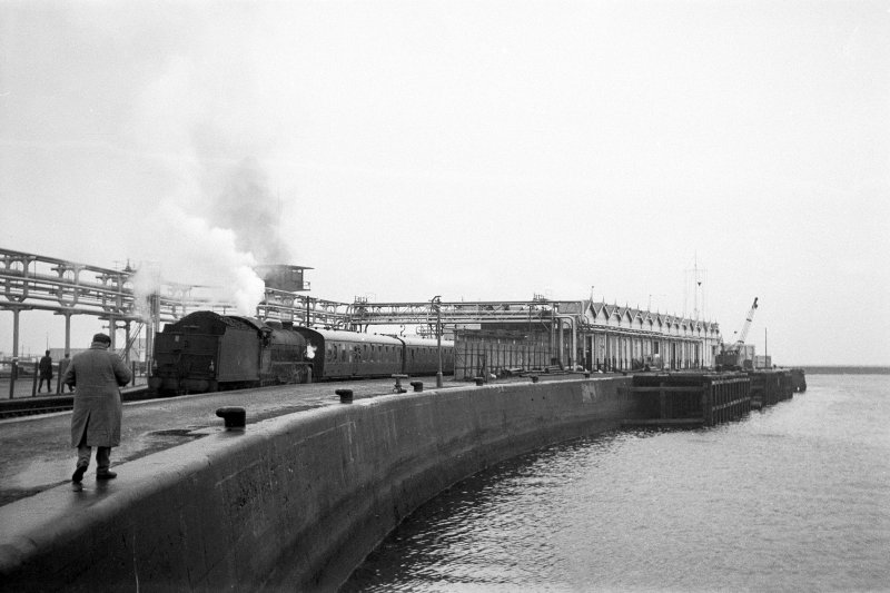 View from ENE showing NNE front of Montgomerie Pier with station in background