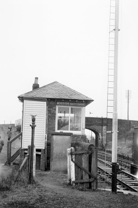 View from NNW showing NNW front of signal box