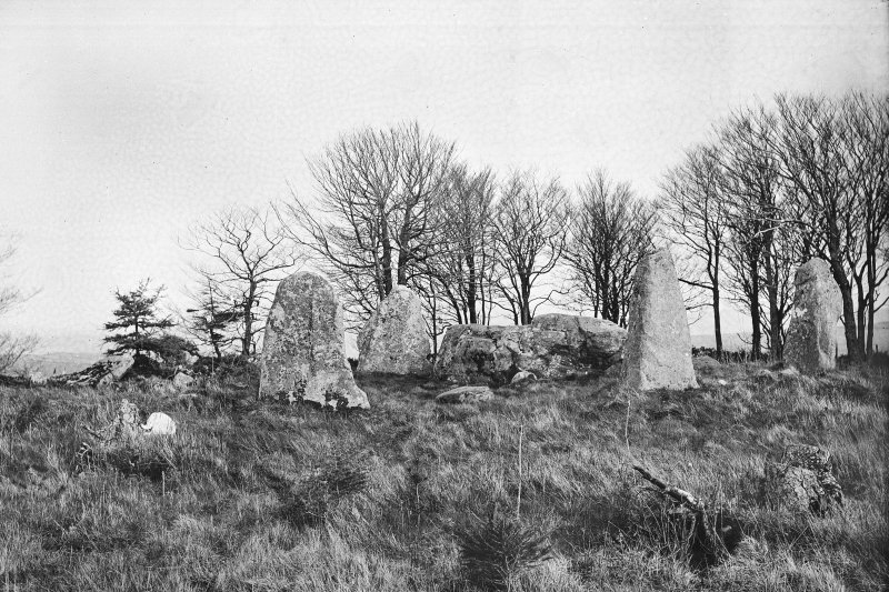 General view from the north. Original negative captioned: 'Aikey Brae Circle Old Deer from North 1907'.