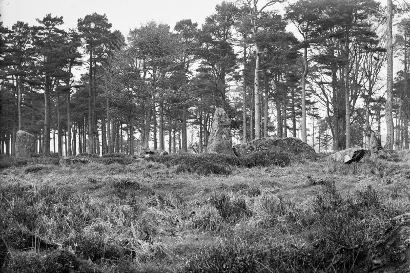 General view from the south west. Original negative captioned: 'Louden Wood Circle, Pitfour near Mintlaw, view from S.W. 1907'.
