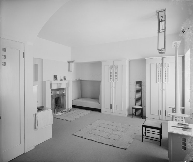 Interior-general view of Bedroom in Hill House