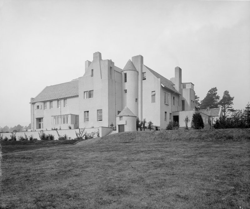 General view of Hill House, Helensburgh from South East.