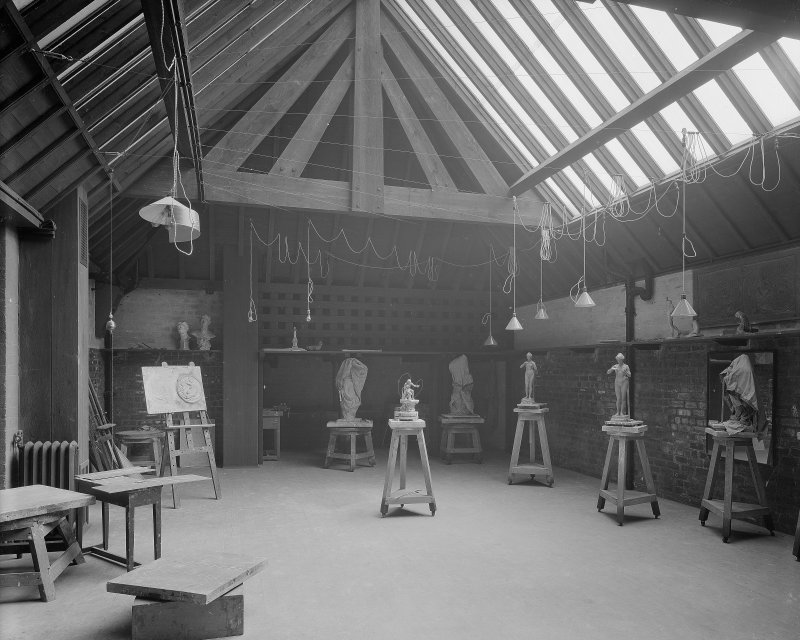 Glasgow School of Art, interior View of life modelling studio