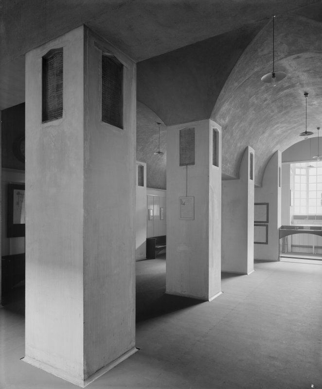 Glasgow School of Art, interior View of entrance hall