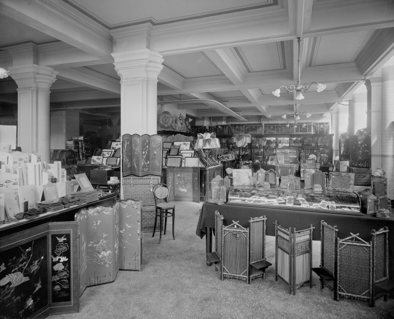 Interior, view of fancy goods department.