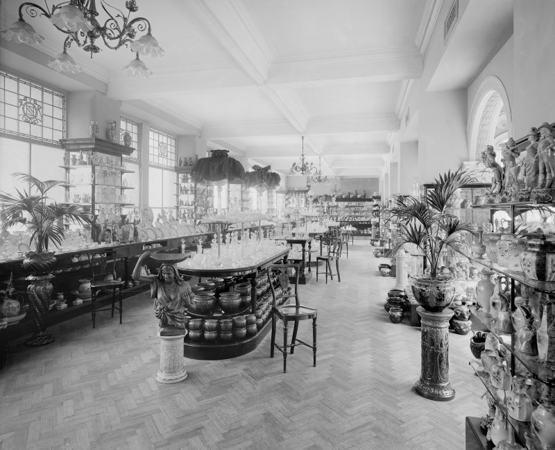 View of the china and glass gallery in Jenner's Department Store, Princes Street, Edinburgh.