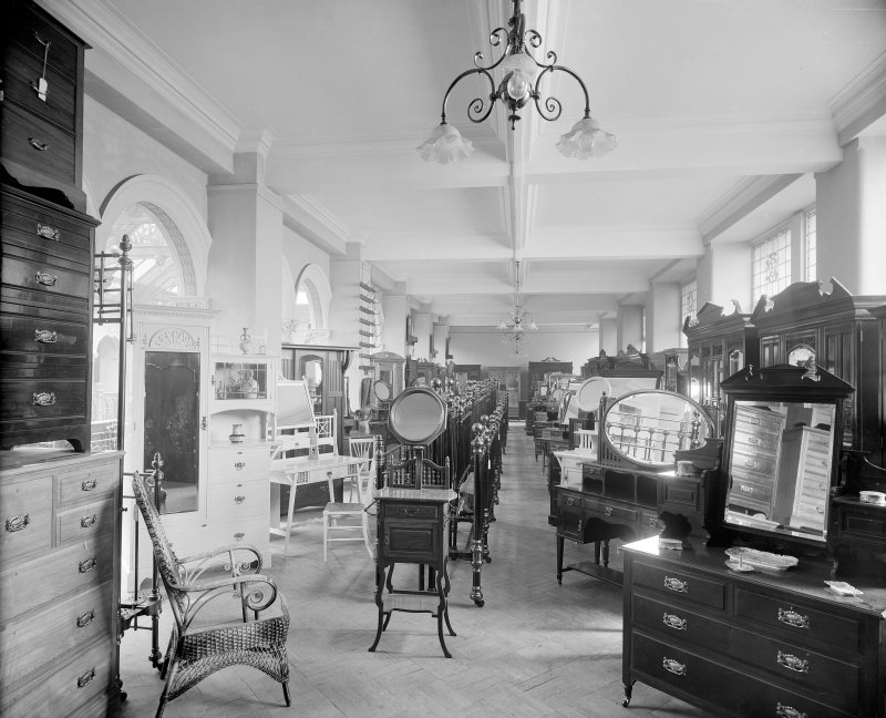 Interior, view of furniture gallery.