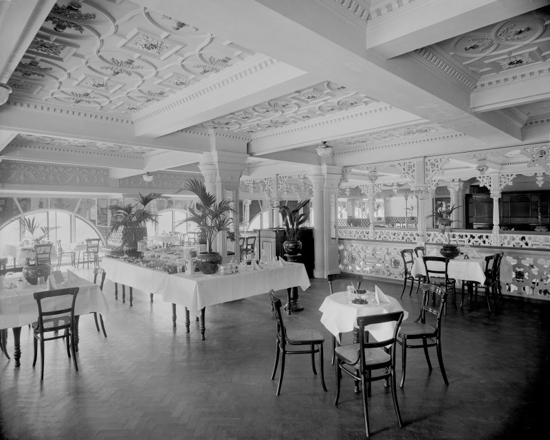 View of the tea room in Jenner's Department Store, Princes Street, Edinburgh.