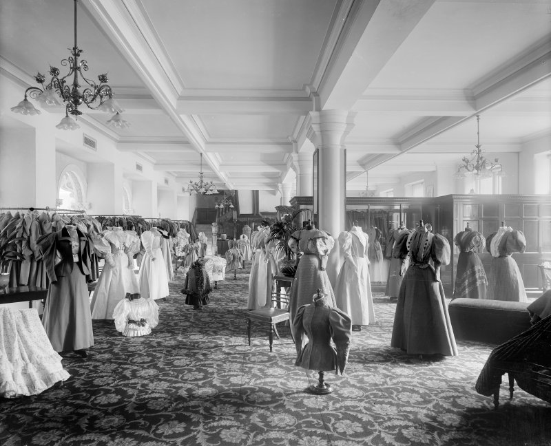 View of the women's fashion department in Jenner's Department Store, Princes Street, Edinburgh.