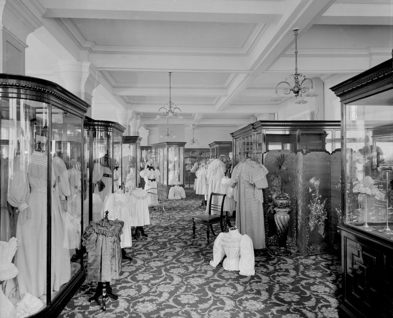 Interior, view of lingerie department.