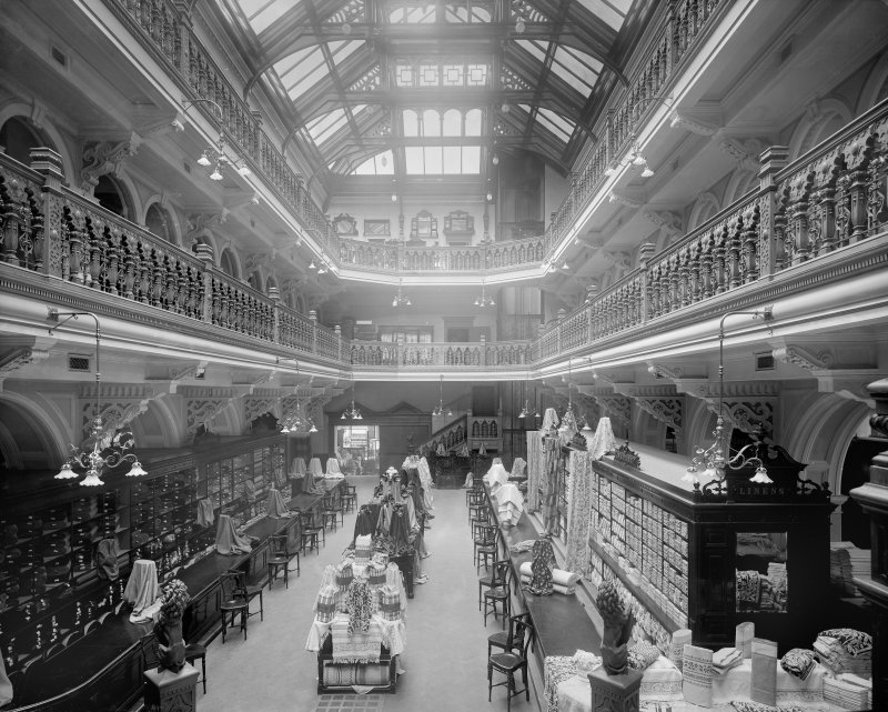 View of the hall at Jenner's Department, Princes Street, Edinburgh.