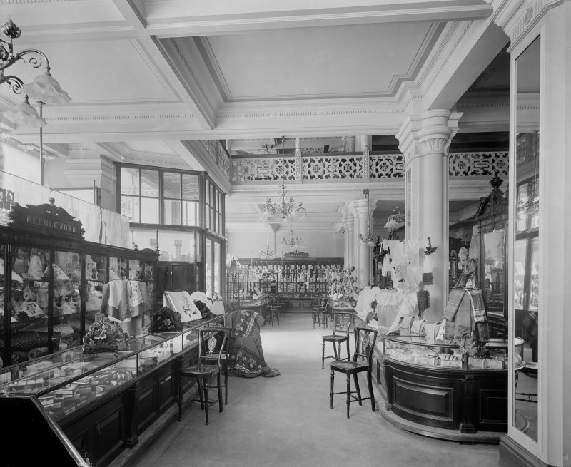 View of the haberdashery department in Jenner's Department Store, Princes Street, Edinburgh.