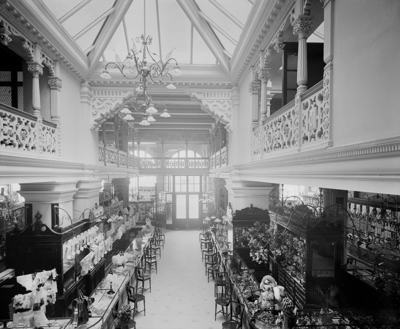 Interior, view of haberdashery department.