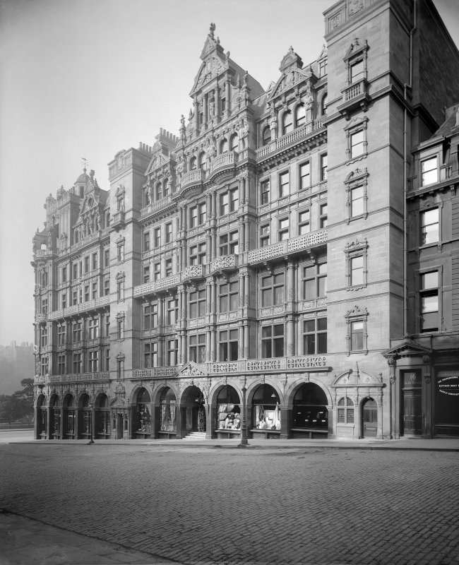 View of Jenner's Department Store, Princes Street, Edinburgh, from north east.