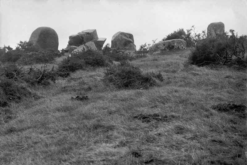 General view from the north. Original negative captioned: 'Ardlair Stone Circle Kennethmont view from North 1909'.