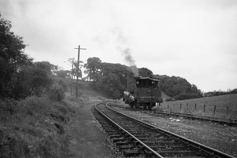 View showing colliery locomotive