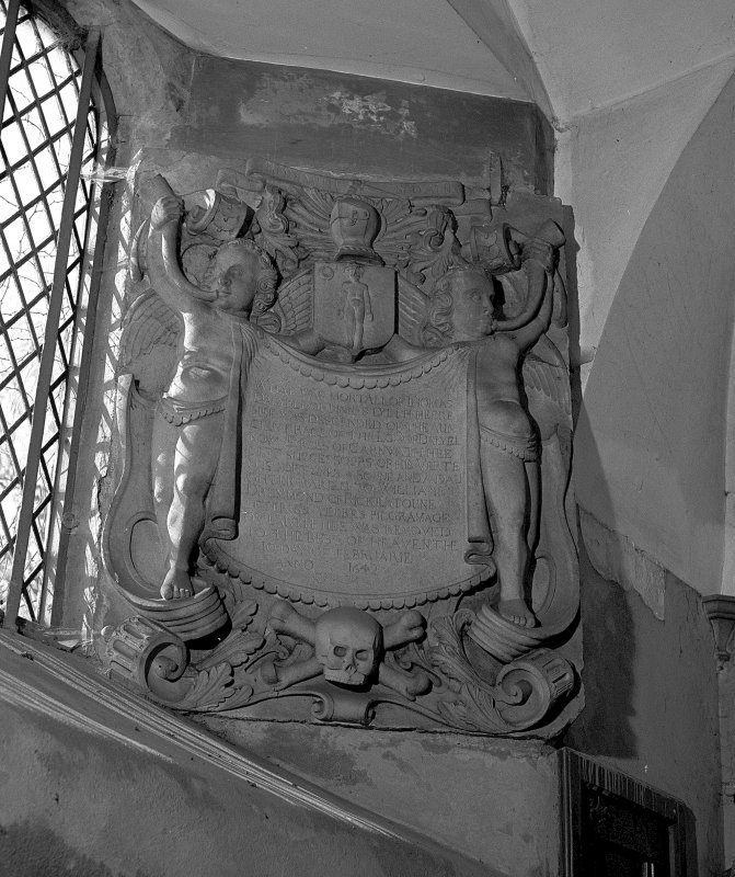View of Memorial to Thomas Dalyell, Abercorn Church Interior