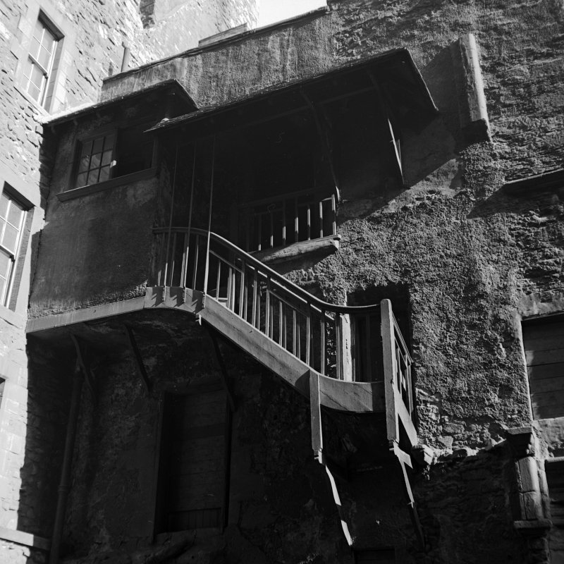 View of old stairway, Riddell's Court, Edinburgh