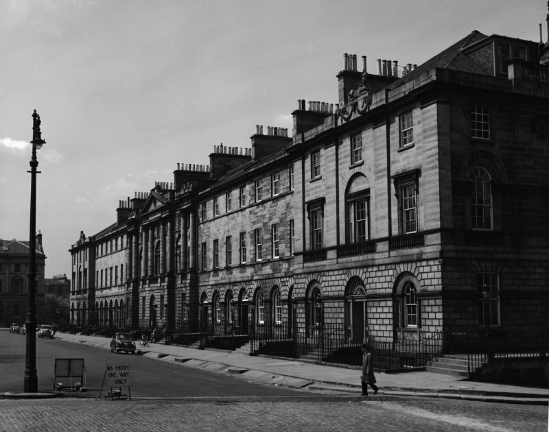 General view of North side of Charlotte Square, showing No.6 Charlotte Square, Edinburgh