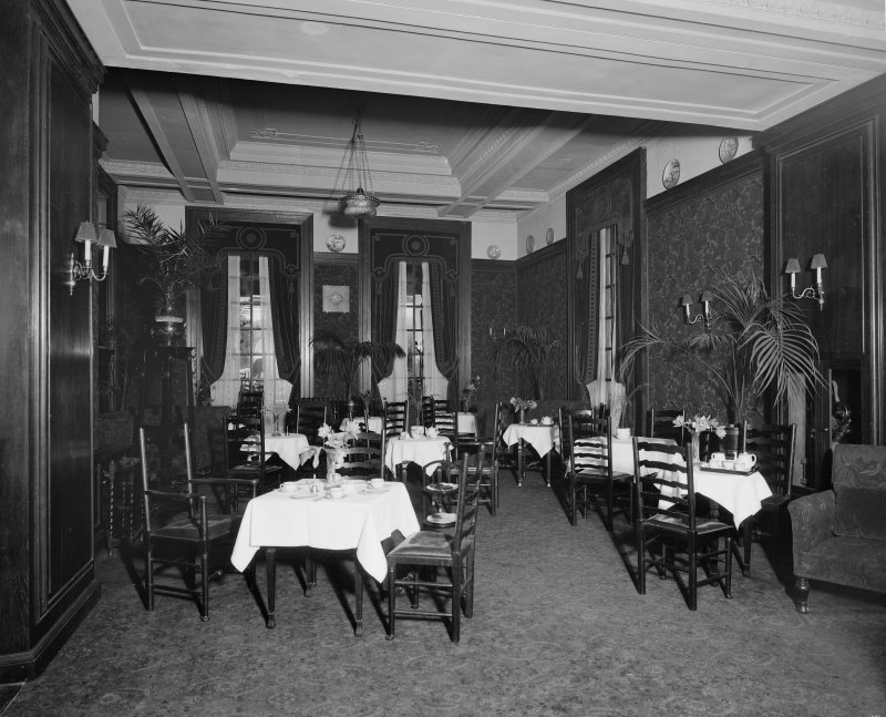 Edinburgh, Picture Theatre, interior. View of dining room.