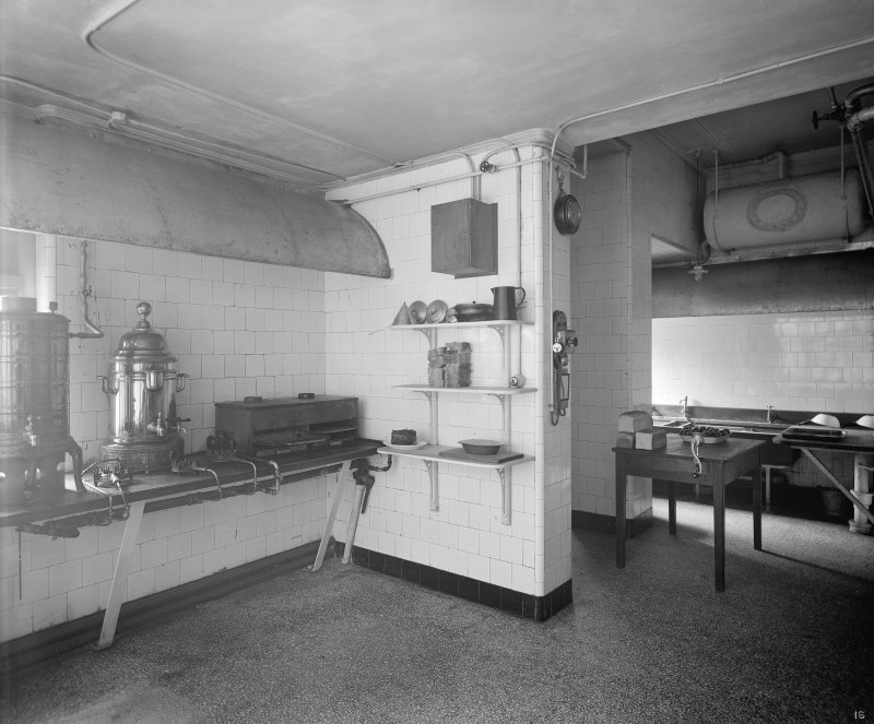 Edinburgh, Picture Theatre, interior. View of kitchen.