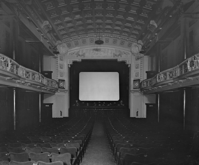 View of auditorium, the Edinburgh Picture Theatre or New Picture House cinema on Princes Street. It opened in 1913 and was demolished in 1951 to make way for a Marks and Spencer store.