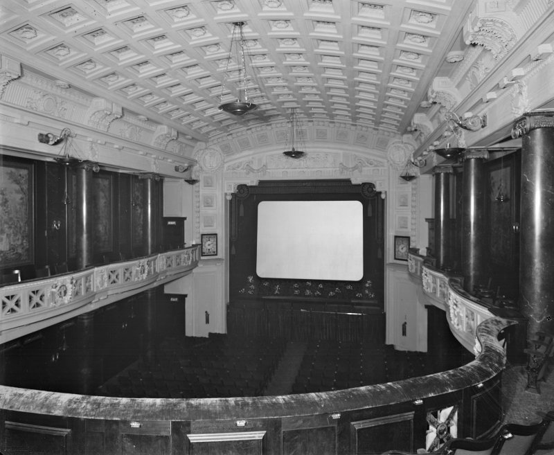 Edinburgh, Picture Theatre, interior. View of auditorium from balcony.