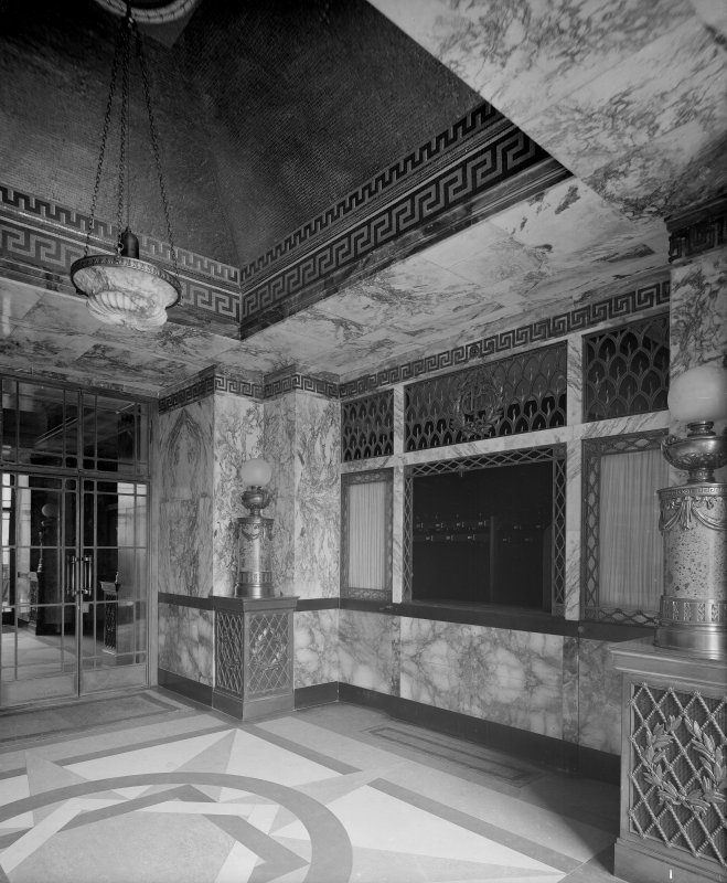 Edinburgh, Picture Theatre, interior. View of foyer.