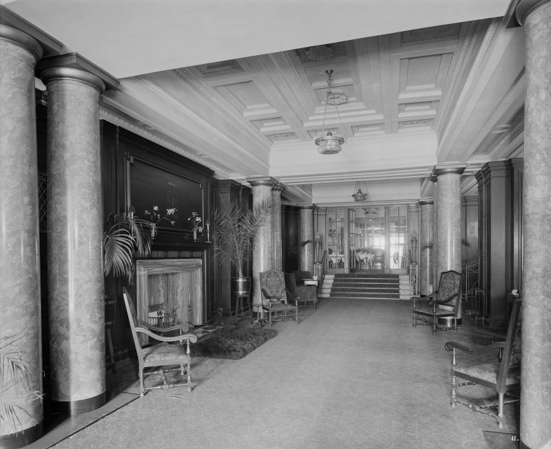 Edinburgh, Picture Theatre, interior. View of corridor with stairs.