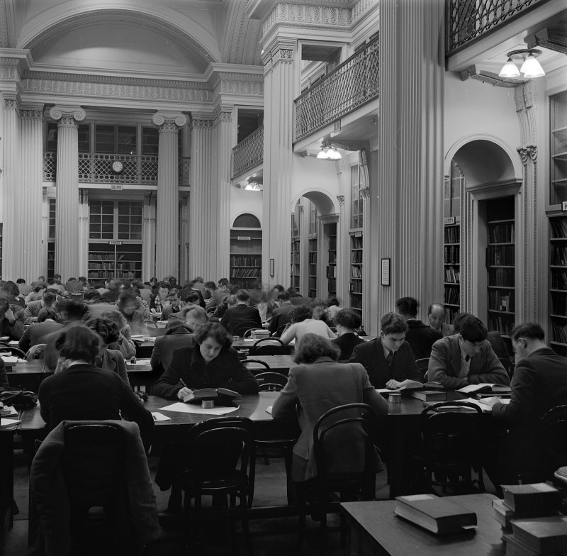 Interior view of New Reading Room, Playfair Library, Edinburgh