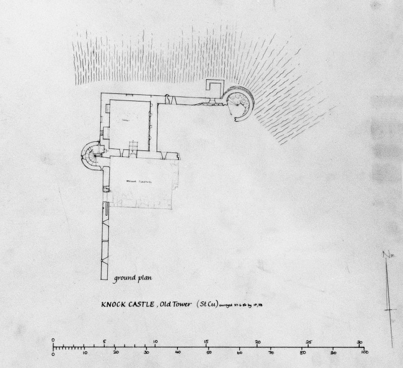 Ground plan of Old Tower.