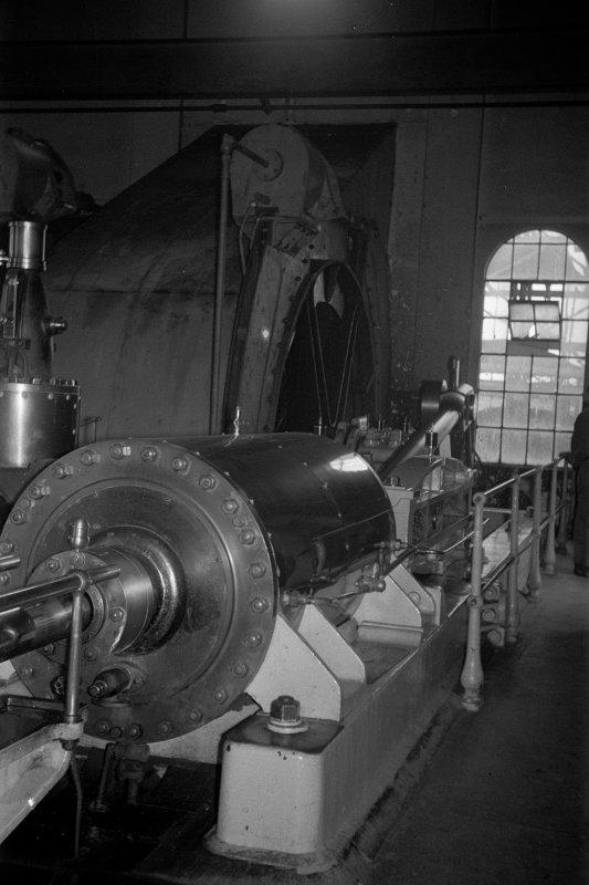 Interior View showing cylinder of steam winding engine