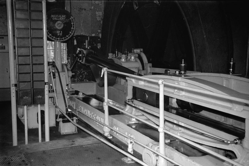 Interior View showing steam winding engine
