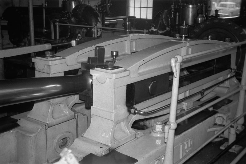 Interior View showing side bars of steam winding engine
