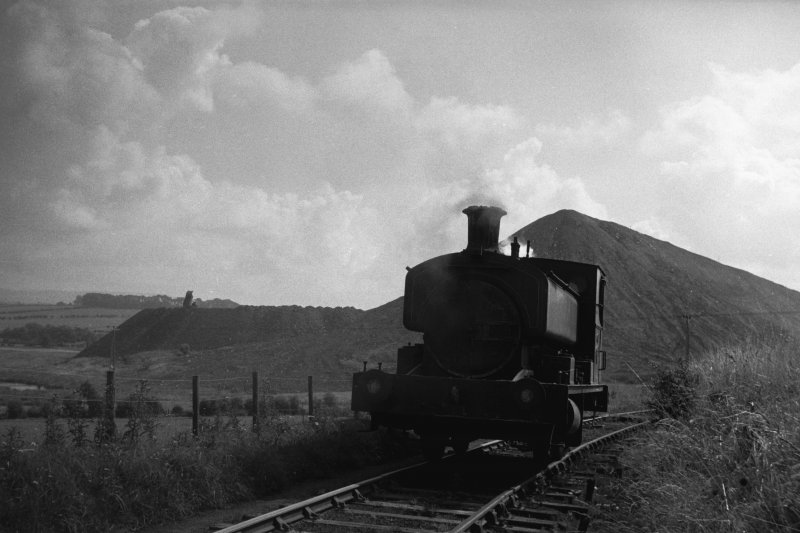 View from NW showing locomotive with bing in background