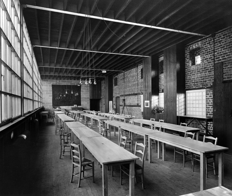 Glasgow School of Art, interior Photographic view of Refectory