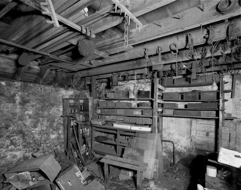 Interior. View of stables/outbuilding. Digital image of B 20472