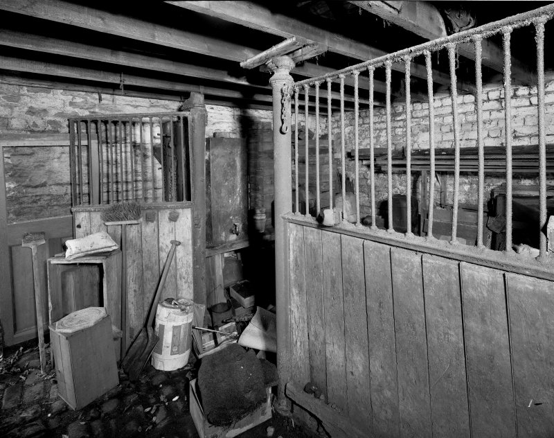 Interior. View of stable from SW. Digital image of B 20470