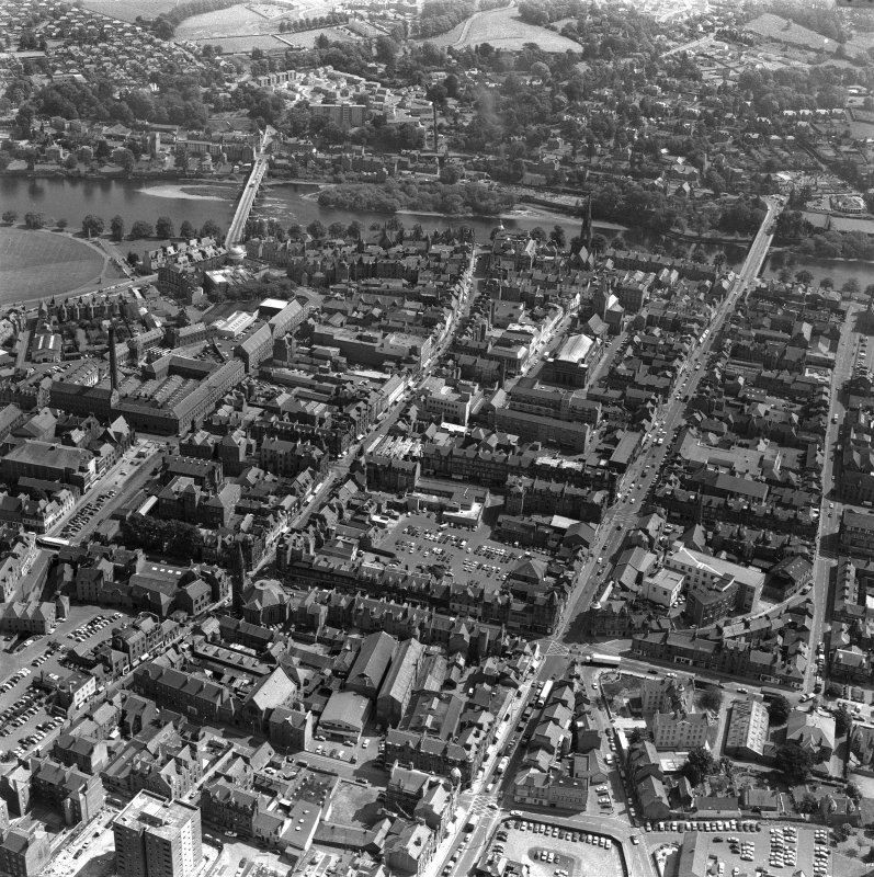 Perth, general. Oblique aerial view.