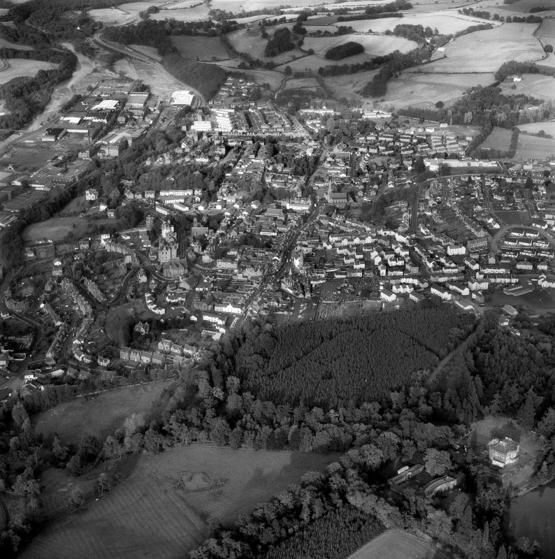 Scanned image of oblique aerial view of Selkirk from the SW..