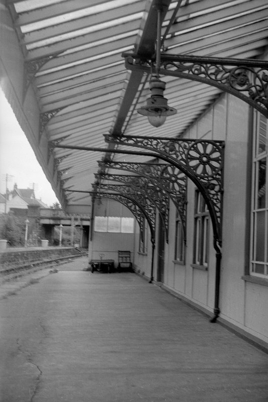 View from WNW showing awning of down platform building