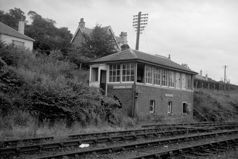 View from W showing WNW and SSW fronts of E signal box