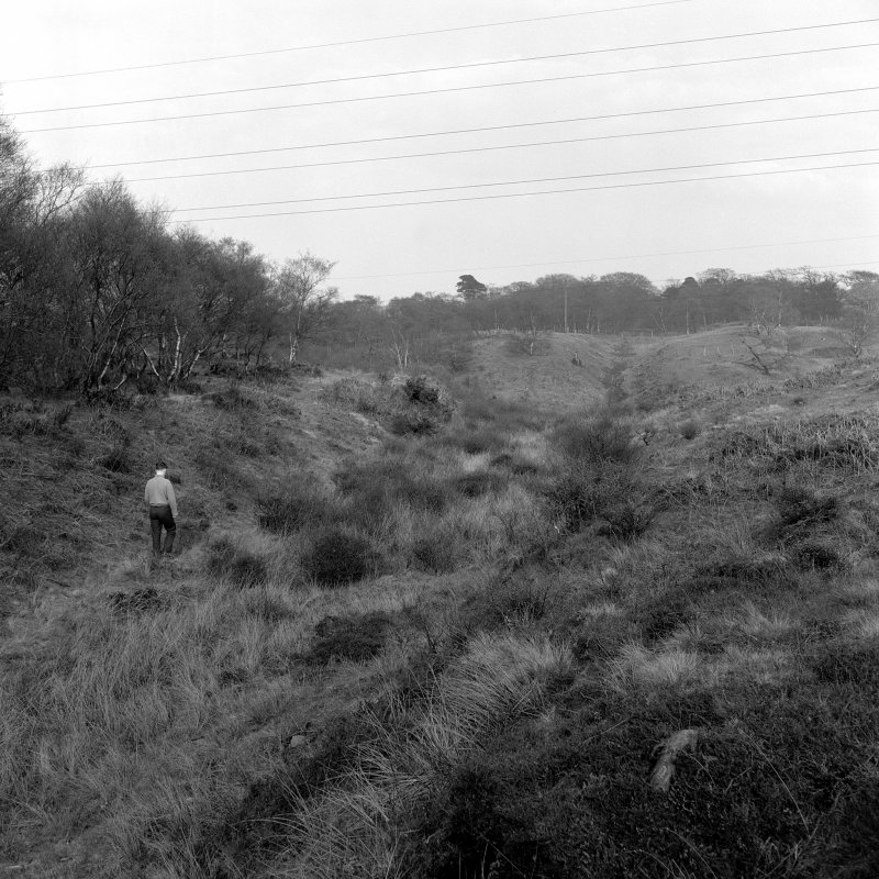 View of Antonine Ditch to West of Rough Castle.