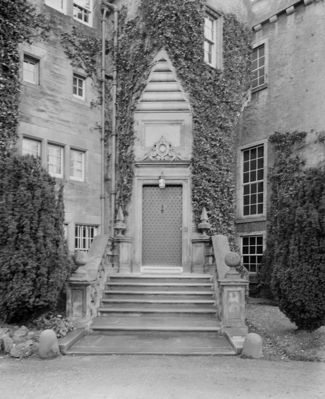 General view of entrance in stair turret