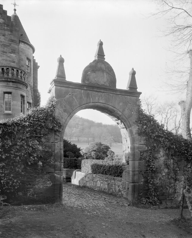 General view of archway over entrance to garden