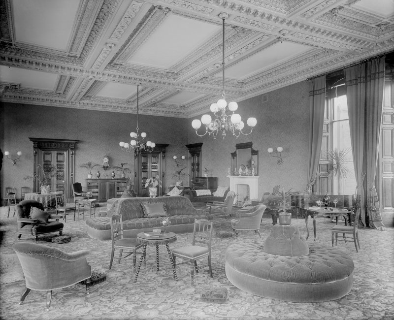 View of the lounge area, Peebles Hydropathic Hotel.