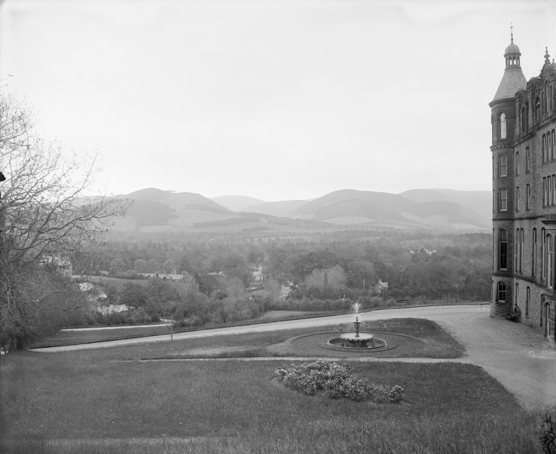 General view of Peebles Hydro and part of gardens Digital image of B 64255
